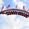 BEN MIKESELL | THE GOSHEN NEWS<br /> Fair-goers enjoy amusement rides Thursday evening at the Elkhart County 4-H Fair.