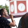 BEN MIKESELL | THE GOSHEN NEWS<br /> New Paris native Jordan Kirkdorffer, who appeared on NBC's 'The Voice,' performs at a concert Monday night on the Heritage Park stage at the Elkhart County 4-H Fair.