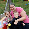 JOHN KLINE | THE GOSHEN NEWS<br /> Amber Myers with Veronica Myers, 4, and Caleb Myers, 16 months, all of Elkhart