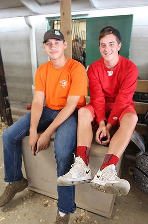 JULIE CROTHERS BEER | THE GOSHEN NEWS<br /> Brandon Lehman, 14, of Topeka and Alec Titus, 14, of LaGrange