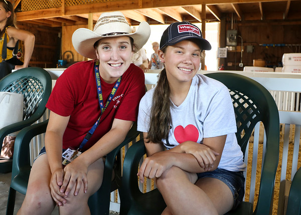LEANDRA BEABOUT | THE GOSHEN NEWS<br /> Amber Bost, 17, of Bristol, and Mia Miller, 17, of Goshen