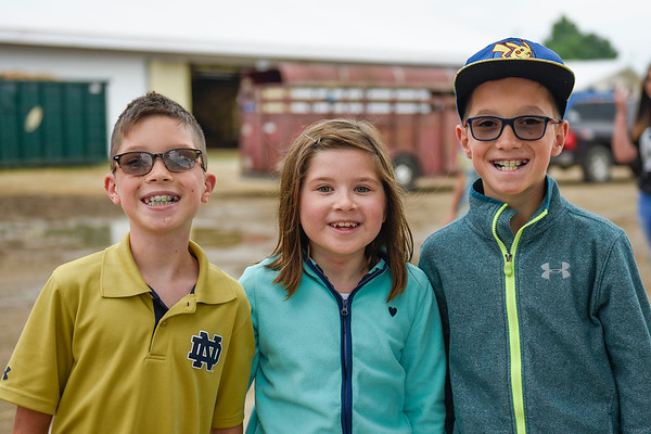 BEN MIKESELL   THE GOSHEN NEWS<br /> Quinn, 10, Dempsey, 8, and Parker Ransom, 10, of Granger.