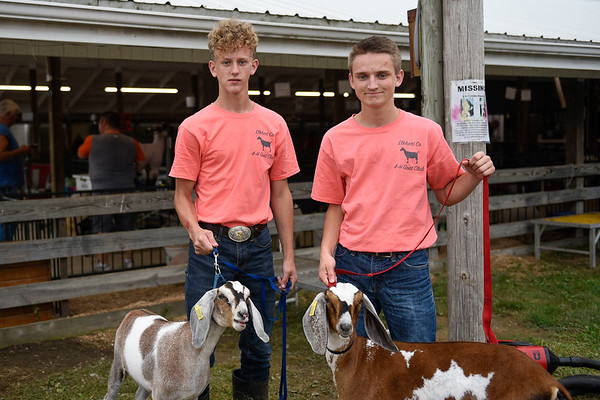 BEN MIKESELL | THE GOSHEN NEWS<br /> Seth Yoder, 17, of Millersburg and Isaac Bontrager, 18 of Millersburg.