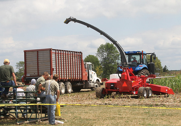 One of several field demonstration at the event site Wednesday.