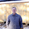 Roger Scheurer, of Lee, has installed solar panels for his home placed on a barn he recently built. (January 9th 2014 Holly Pelczynski/Berkshire Eagle Staff)