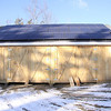 Roger Scheurer's barn he recently built which has Solar panels that creates electricity for his home. (January 9th 2014 Holly Pelczynski/Berkshire Eagle Staff)