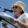 "Angela Monti Fox, mother of ""Gasland"" director, Josh Fox, talks about he concerns for our future.<br /> Scores of concerned citizens  gathered in Erie Community Park on Saturday to protest fracking in Erie, CO, by the  Encana Corp.<br /> For more photos and a video of the event, go to  <a href=""http://www.dailycamera.com"">http://www.dailycamera.com</a>.<br /> Cliff Grassmick / June 2, 2012"