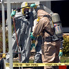 """Investigators are cleaned after handling meth materials.<br /> Law enforcement and fire/rescue officers from around Boulder County responded to a  meth lab clean up on Bonanza Dr. in Erie on Friday. For a video of the scene, go to  <a href=""""http://www.dailycamera.com"""">http://www.dailycamera.com</a>.<br /> Cliff Grassmick / September 3, 2010"""
