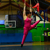 """KRISTOPHER RADDER - BRATTLEBORO REFORMER<br /> Erin Ball, from Kingston, Ontario, Canada, rehearses on Tuesday, Dec. 13, 2016, her routine for New England Center for Circus Arts' show, """"The Flying Nut 2016: Bratt in Bayou,"""" that will run this weekend."""