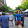 KRISTOPHER RADDER - BRATTLEBORO REFORMER<br /> People enjoy the Evening Street Festival and Gallery Walk on Main Street on Friday, June 1, 2018, as a kickoff to the Strolling of the Heifers weekend.