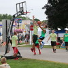 KRIS MUELLER | THE GOSHEN NEWS<br /> Teams compete in the 3 on 3 Basketball tournament at the Middlebury Summer Festival.
