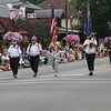KRIS MUELLER | THE GOSHEN NEWS<br /> Middlebury's American Legion, Post 210 lead the 48th Annual Middlebury Summer Festival Parade.