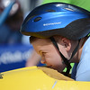 HALEY WARD | THE GOSHEN NEWS<br /> Justin Simons races in the Super Stock division during the Elkhart County Soap Box Derby on Saturday at the Elkhart County Fairgrounds.