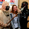 Brian Sapp | The Goshen News Linsey Degeeter, 17, of Elkhart, poses at the Hall of Heroes Comic Con with Star Wars re-enactors with the 501st Regiment.