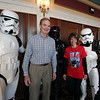 Roger Schneider | The Goshen News<br /> Mayor Tim Neese and Hall of Heroes Comic Con committee member Kim Blank stand with people dressed in Star War costumes Sunday at The Lerner Theater.