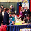 Brian Sapp | The Goshen News<br /> Fans line up to meet Dean Cain who currently plays Supergirl's father in the Supergirl TV<br /> series.