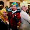 Brian Sapp | The Goshen News<br /> Chrissy McOsca, left, of Bremen, poses with Cam Dick and Jonathan Adkins of Fort Wayne in their costumes from the anime series Rwby.