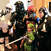 Brian Sapp | The Goshen News<br /> Sebastian Pieters, 7, of Mishawaka dressed as Link from the Legend of Zelda, gets his<br /> picture taken with Star Wars re-enactors of the 501st Regiment.