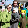 Brian Sapp | The Goshen News<br /> Tricia and Sherman Billingsley of LaGrange, dressed as Star Wars' Han Solo and<br /> Princess Leia, wait in line with their sons Franklin and Sam, dressed as Thor and Loki.