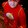 Brian Sapp | The Goshen News<br /> Ethan Lester, 13, of Angola, poses as The Flash at the Hall of Heroes Comic Con at The<br /> Lerner Theatre.