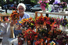 Jane Grower, of Country Floral, was set up at the annual Autumn Arts and Crafts Fair on  Sunday, Sept. 29th, 2013 in downtown North Adams.  (Sarah Howard/Special to the Transcript)
