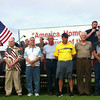 SHERRY VAN ARSDALL | THE GOSHEN NEWS<br /> Veterans are honored during Celebrate America at Black Squirrel Golf Course in Goshen Sunday night, July 6, 2014.