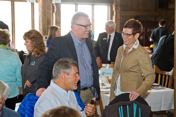 SAM HOUSEHOLDER   THE GOSHEN NEWS<br /> during the Nappanee Chamber of Commerce Annual Appreciation Dinner.