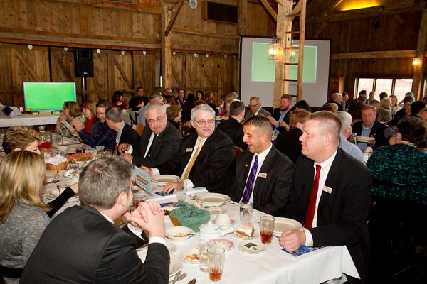 SAM HOUSEHOLDER   THE GOSHEN NEWS<br /> Chamber of Commerce members dine during the Nappanee Chamber of Commerce Annual Appreciation Dinner.