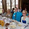 SAM HOUSEHOLDER | THE GOSHEN NEWS<br /> From left, Melissa Kitson, of Heritage House, Cindy Hill, Ryan Swygart and Amanda Swygart enjoy dinner during the Nappanee Chamber of Commerce Annual Appreciation Dinner.