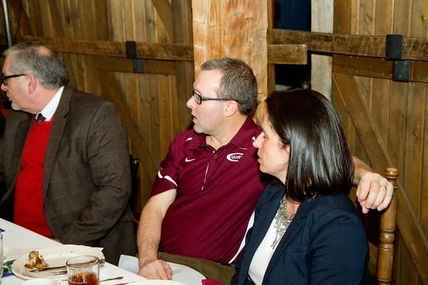 SAM HOUSEHOLDER   THE GOSHEN NEWS<br /> Members enjoy their dinner during the Nappanee Chamber of Commerce Annual Appreciation Dinner.