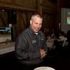 SAM HOUSEHOLDER | THE GOSHEN NEWS<br /> Jeff Kitson of the Nappanee Chamber of Commerce visits tables during the Nappanee Chamber of Commerce Annual Appreciation Dinner.