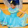 SHERRY VAN ARSDALL | THE GOSHEN NEWS Lopita Muñoz, a student at St. John the Evangelist Catholic School performed during an Hispanic Heritage Celebration at Chandler Elementary School Saturday.