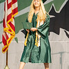 Concord Senior valedictorian Rachel Taylor Rowe walks the stage at Concord High School during graduation Monday morning.