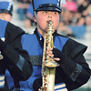STACEY DIAMOND | THE GOSHEN NEWS<br /> A saxophone player from the Fairfield Marching Pride performs Saturday during the marching band competition at Concord High School.