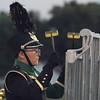 STACEY DIAMOND | THE GOSHEN NEWS<br /> A Wawasee Marching Warrior Pride percussionist performs Saturday during the marching band invitational at Concord High School.