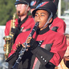STACEY DIAMOND | THE GOSHEN NEWS<br /> NorthWood Marching Chargers clarinet player Jazmine Cornejo performs during the marching band invitational Saturday at Concord High School.