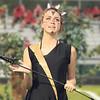 STACEY DIAMOND | THE GOSHEN NEWS<br /> Wawasee Marching Warrior Pride color guard member Kayle Murphy performs during the marching band invitational Saturday at Concord High School.