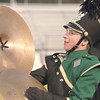 STACEY DIAMOND | THE GOSHEN NEWS<br /> Wawasee Marching Warrior Pride cymbal player Ethan Hays performs during the marching band invitational Saturday at Concord High School.