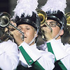 STACEY DIAMOND | THE GOSHEN NEWS<br /> Trumpet players from Concord High School perform during Saturday's marching band invitational.