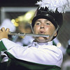 STACEY DIAMOND | THE GOSHEN NEWS<br /> A Concord Marching Minuteman flute player performs during the marching band invitational Saturday at Concord High School.