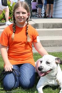 Amanda Henry, 11. Osceola. Dog is Prutus.