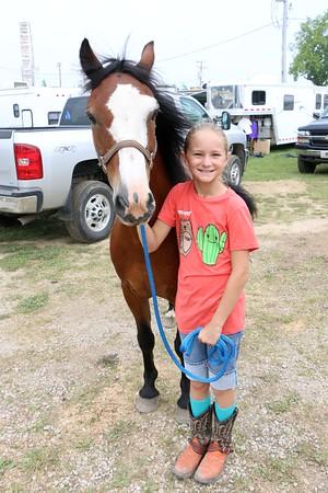 Olivia Wingard, 9. Horse is Clyde. Goshen
