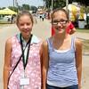 Makenna Miller and Corinne Bontrager of Middlebury.