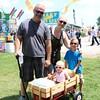 Steve Hill, Amber Dawson,- in wagon- Hayden Hill,- on right- Carter Lutrell. From Elkhart