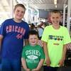 Hayden McDonald, 11, Max Colvin, 4 and Cole Johnston, 11, all of Goshen