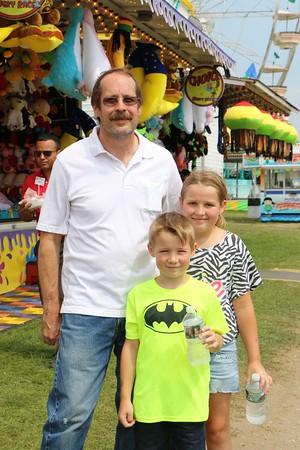 Russ Clark with Lukas,8, Ruby, 9. Elkhart