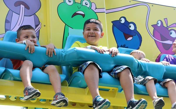 Tyler Vazquez, 5, and John Sanchez, 7, both from Syracuse