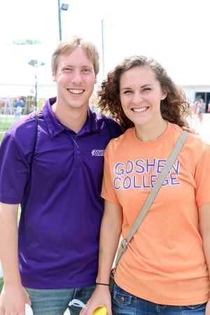 Jacob GunderKline and Kristin Waltner.