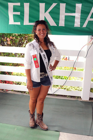 JULIE CROTHERS | THE GOSHEN NEWS<br /> Katheryn Giddens, 19, finished her last year of 4-H last year, but returned this year as a project leader for Dog Club. She is also a 2014 queen candidate.