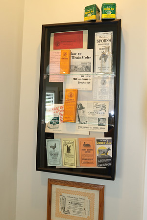SHEILA SELMAN | THE GOSHEN NEWS<br /> Some of Goshen's history can be found on display at the Wayne Wogoman Welcome Center.